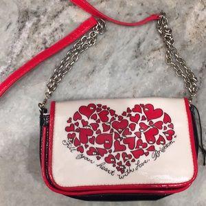 Brighton heart crossbody purse
